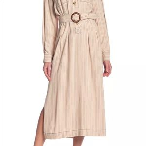 Free People Audrey Striped Midi Dress Sz XS